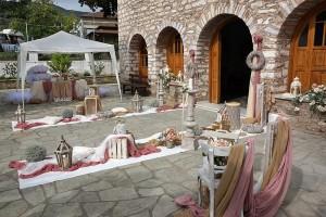 Στολισμός εκκλησίας με ιβουάρ - ροδί - σοκολά